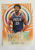 2019-20 PANINI NBA ILLUSIONS MYSTIQUE JOEL EMBIID ACETATE INSERT CARD # 5 76ers