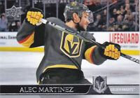 20/21 UD...ALEC MARTINEZ...CARD # 181...GOLDEN KNIGHTS...FREE COMBINED SHIP