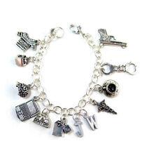 Sherlock holmes inspired bracelet John Watson style Charm Bracelet silver tone