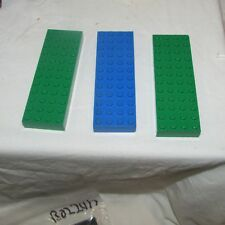 LEGO lot of 3 thick 4 x 12  4202  60033  Thick Base blue and green nice