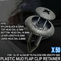 50pcs For Ford AU BA BF FG Plastic Clip Retainers Fasteners XR6 XR8 Turbo Falcon