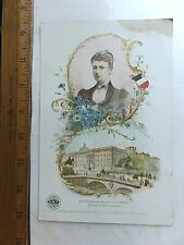 1880's Trade Card - Queen Sophie - Leading Women of the World, ONT Cotton.