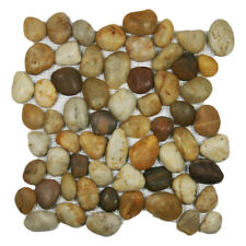 Polished Wine Pebble Tile - Great for Floors, Showers, Bathrooms & More!