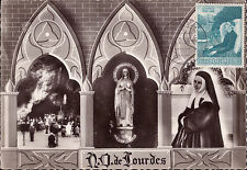 Set 3 RARE maxicards Vatican Loudres 1958 Real photo Maximum card Religion Saint