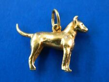 14K SOLID YELLOW   Dog Pendant Charm 25mm X 19mm  5.92g