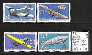 BRD 1991 Historische Luftpostbeförderung MiNr. 1522 - 1525 postfrisch