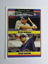 JUSTIN MORNEAU & JOHAN SANTANA 2006 TOPPS UPDATE BASEBALL CARD # UH313 C6664
