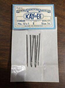 Original Package of 6 Kay an EE Toy Sewing Machine Needles