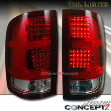 2007-2010 GMC Sierra 1500 2500 Pickup Truck LED Tail lights Red / Clear style
