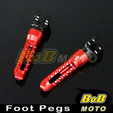 For Yamaha YZF R125 08 09 10 11 12 13 RED BoB CNC Front Foot pegs
