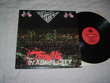 LION Trouble In Angel City LP US HAIR/power metal MARK EDWARDS ORIG US pr MINT-