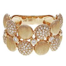 Hand Pave Diamond Ring 14K 0.60cttw Rachel Koen Rose Gold Satin Finish Right