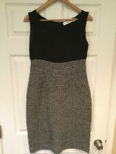 Sparrow Anthropologie Black Houndstooth Shift Dress, Size M