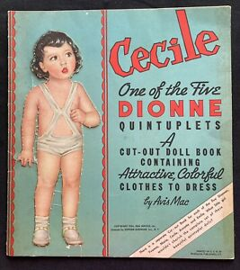 Original Cecile of the Dionne Quintuplets Paper Doll, Whitman, 1936
