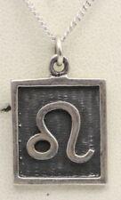 Collares y colgantes de joyería de metales preciosos sin piedras de plata de ley, Horóscopo