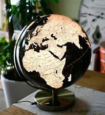 Black_Modern World Globes Stand Lighted Lamp Table Top Office Globos