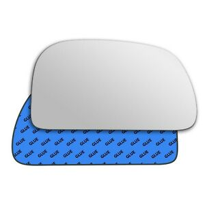 Right wing adhesive mirror glass for Mitsubishi Space Star 1998-2005 189RS