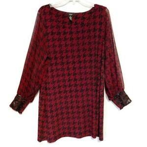 Alfani Tunic Dress Slinky Knit Stretchy Long Sleeves Elastic Cuffs Plus Size 1X
