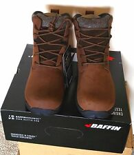 $160 BAFFIN TRURO MENS INSULATED WATERPROOF LEATHER WINTER SNOW BOOT BROWN 10 M
