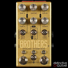 NEW CHASE BLISS AUDIO EFFECTS BROTHERS OVERDRIVE / FUZZ / BOOST GUITAR FX PEDAL