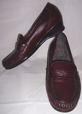 SAS Tripad Comfort Oxblood Leather Heels 8N 8 N Narrow Cordovan Loafers Heeled