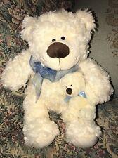 "Family Christian Store Mary Meyer 12"" Sitting Teddy Bear Mom & Baby Plush  #2B"