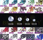 Lot Wholesale SS10 SS16 SS20 SS30 Hotfix Rhinestone Iron-on Flatback Crystal