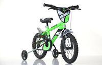 14 Zoll Kinderfahrrad Jungenfahrrad grün  Kinderrad Fahrrad Spielrad cool sicher