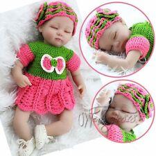 18'' Handmade Vinyl Silicone Reborn Baby Doll Lifelike Sleeping Preemie Bebe Toy