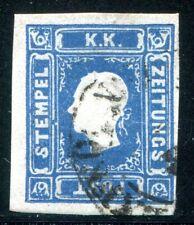 ÖSTERREICH 1858 16 gestempelt ZEITUNGSMARKE 700€(Z2715