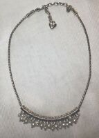 "BRIGHTON ""DECO DANGLE"" SILVER FINISH NECKLACE Chandelier Style 16-18"" STUNNING"
