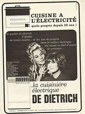 Publicité 1965  DE DIETRICH  la cuisinière électrique