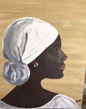 Original Black Americana Folk Art. 11x14  Art by DML Acrylic on canvas