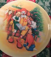 McDonald's, New, Vintage, Ronald McDonald, Holiday Plate, Christmas