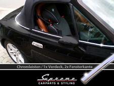 BMW  Z3  95-02 Chrom Zierleiste  1x Verdeck Rahmen und 2x Fensterleisten 3M