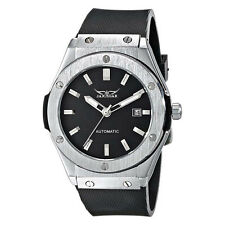 Jaragar Men Automatic Mechanical Wrist Watch Stainless Steel Analog Silicon Date