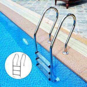Swimming Pool Ladder Stainless Steel Rung Steps Pools Ladders Anti Slip Footstep