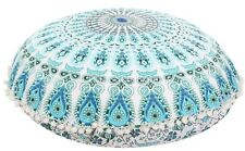 handmade mandala floor pillow pouf cotton foot stool embroidery cushion cover