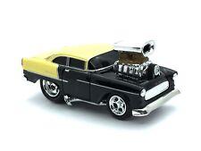 Muscle Machines 1955 55 Chevrolet Chevy Bel Air Black Car Die Cast 1/64 Loose