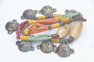 Naga Necklace Tribe head Handmade multi beads nagaland necklace Glass Bead beads