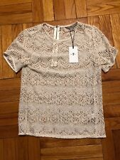 7 For All Mankind NEW Women White XS lace top extra small