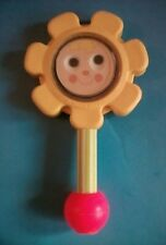 "Vintage 1973 Fisher-Price FLOWER RATTLE 7.5"" Long - Made in USA"