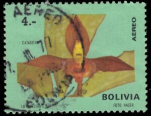 "BOLIVIA C329 - Wildflowers - Orchid ""Catasetum"" (pb20656)"