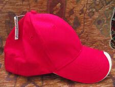 smart fit sandwich peak cap  red new  2 caps for £4 plus postage  thats £2 each!