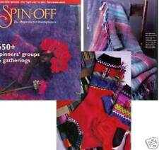 Spin-off magazine winter 1998: russian style lace scarf, buffalo pillow, socks