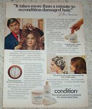 1974 ad page -Clairol Condition JULIUS CARUSO hairdresser girl hair style ADVERT