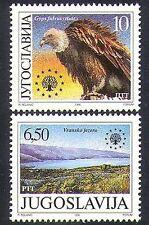 Yugoslavia 1990 Vulture/Birds/Lake/Nature/Protection/Conservation 2v set n37258