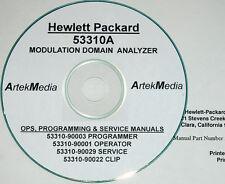 HP 53310A , Operator, Programmer,  Service  & CLIP (Schematics) Manual Set 4-vol