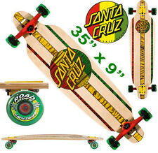 SANTA CRUZ Rasta Drop Through Cruzer Downhill Longboard Skateboard Surfboard