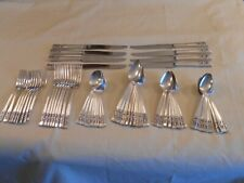 """ONEIDA COMMUNITY """"CORONATION"""" SILVER PLATED GRILLE SET - SERVICE FOR 8"""